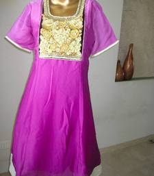Buy Purple shaded embroidered tunic 2 tunic online
