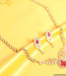 Buy Ruby diamond look chain mangalsutra mangalsutra online