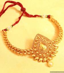 Buy Antique gold look paisley bajuband bajuband online