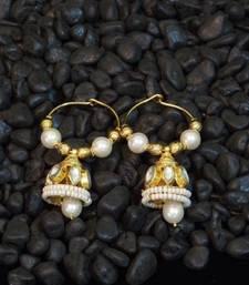 Buy Elegant kundan pearl bali earring hoop online
