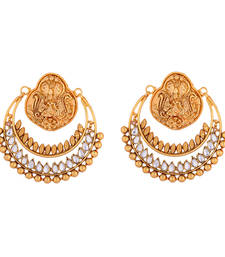 Buy Coin Earrings With Kundan  danglers-drop online