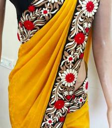 Buy FLORAL SAREE georgette-saree online