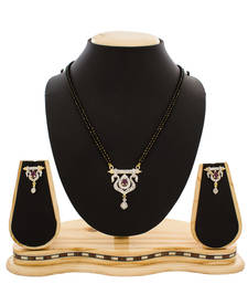 Buy Classic American Diamond Studded Designer Mangalsutra mangalsutra online