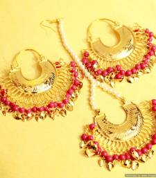 Buy Gold Look Chaand Baali Jadau Punjabi Earrings jewellery-combo online