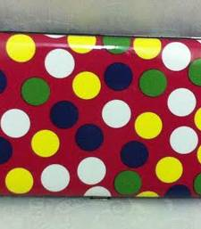 Buy Wallet clutch in red n multi colour polkas clutch online