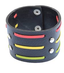 Buy Broad  Multicoloured Stripes Bracelet/Wrist Band For Men men-bracelet online