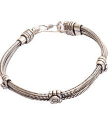 Buy Classy German Silver Bracelet/Wrist Band For Men/ Boys men-bracelet online