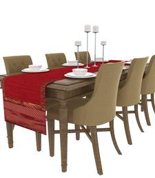 Buy Art Horizon Traditional Self Design Maroon Table Runner AHMFTR table-cloth online