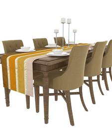 Buy Art Horizon Traditional Striped Yellow Table Runner AHTTYTR table-cloth online