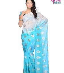 Buy Beauteous Casual wear fancy saree by DIVA FASHION-Surat georgette-saree online