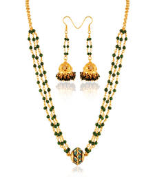 Buy Beauty Gold plated contemporary set necklace-set online