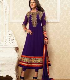 Buy Designer purple anakali suit wedding-gift online