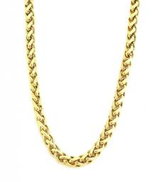 Buy Classic Gold Plated Wheat Heavy Men Chain Mid Length men-jewellery online