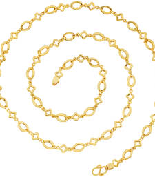 Buy Delicate Geometric Gold Plated Chain For Women Other online