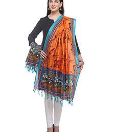 Buy Multicolor printed bhaghal puri silk stole and dupattas stole-and-dupatta online