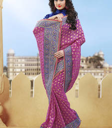 Buy onion pink hand woven pure viscose saree With Blouse heavy-work-saree online