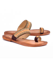 Buy Brown genuine leather footwear footwear online