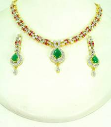 Buy Beautiful & Elegant CZ necklace set. necklace-set online