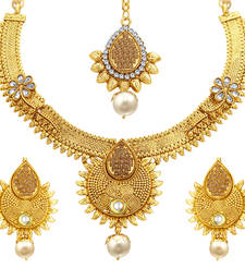 Buy Bewitching Jalebi Gold Plated Necklace Set For Women necklace-set online