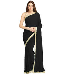Buy Black Saree Sari bollywood-saree online