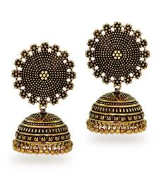 Buy Oxidised Gold Plating handmade Jhumka Earrings eid-jewellery online