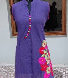 Buy Purple color kurti kurtas-and-kurti online