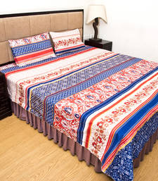Buy Multicolour printed polyester bedsheets bed-sheet online