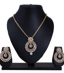 Antique Gold Plated Designer Necklace Set for Womens shop online