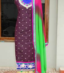 Buy chanderi dress material dress-material online