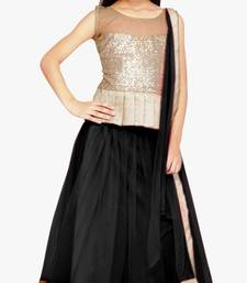 Buy Black color soft net designer kids lehenga choli kids-lehenga-choli online