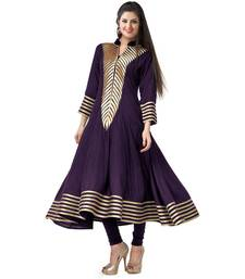 Buy Puple printed georgette semi stitched kurti kurtas-and-kurti online