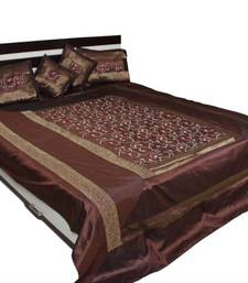 Buy Coffee Color Polysilk Bedsheet Set bed-sheet online