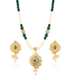 Buy Royaltouch gold plated antique set necklace-set online