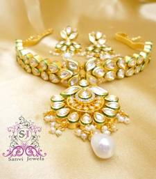 Buy Kundan Meenakari Pearl Choker Necklace necklace-set online