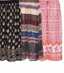 Buy pack of 3 jaipuri cotton skirts skirt online