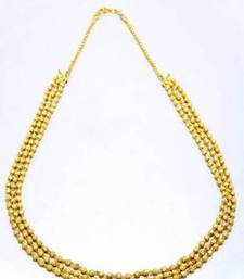 Buy TRIPLE LINE GOLD BALLS MALA - PCN1033 necklace-set online