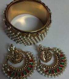 Traditional Ram Leela Earings  with Designer Kadas shop online