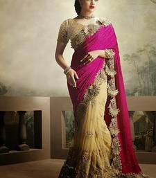 Buy multicolor embroidered net saree With Blouse heavy-work-saree online
