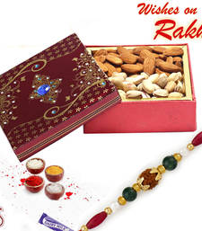 Buy Almonds and Pista Box with FREE Rakhi and Tilak send-rakhi-to-indium online