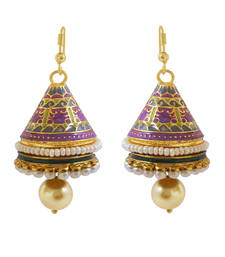 Buy Ethnic Meenakari cone-shaped Jhumki jhumka online