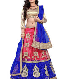 Pink Embroiderd Net lehenga-choli shop online