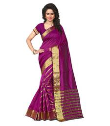 Buy magenta embroidered tussar silk saree With Blouse tussar-silk-saree online