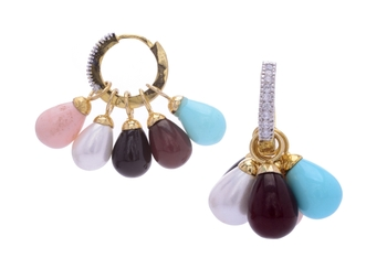 CHANGABLE SHELL PEARLS DROPS BALI