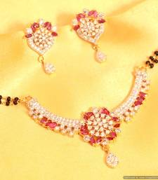Ruby Diamond Look MangalSutra shop online