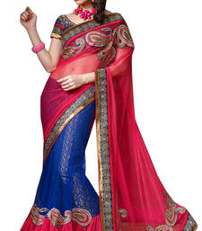 Buy Triveni Glamorous Blue Indian Traditional Exquisite Lehenga Saree TSVR2015 lehenga-saree online