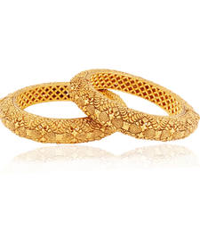 Buy Noble carved Gold plated Antique Bangles bangles-and-bracelet online