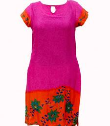 Buy orange kurti kurtas-and-kurti online
