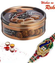 Buy Sapphire Chocochips Cookies Box and Rakhi Hamper rakhi-international online