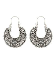 Buy Black metal antique Hoop Earrings hoop online