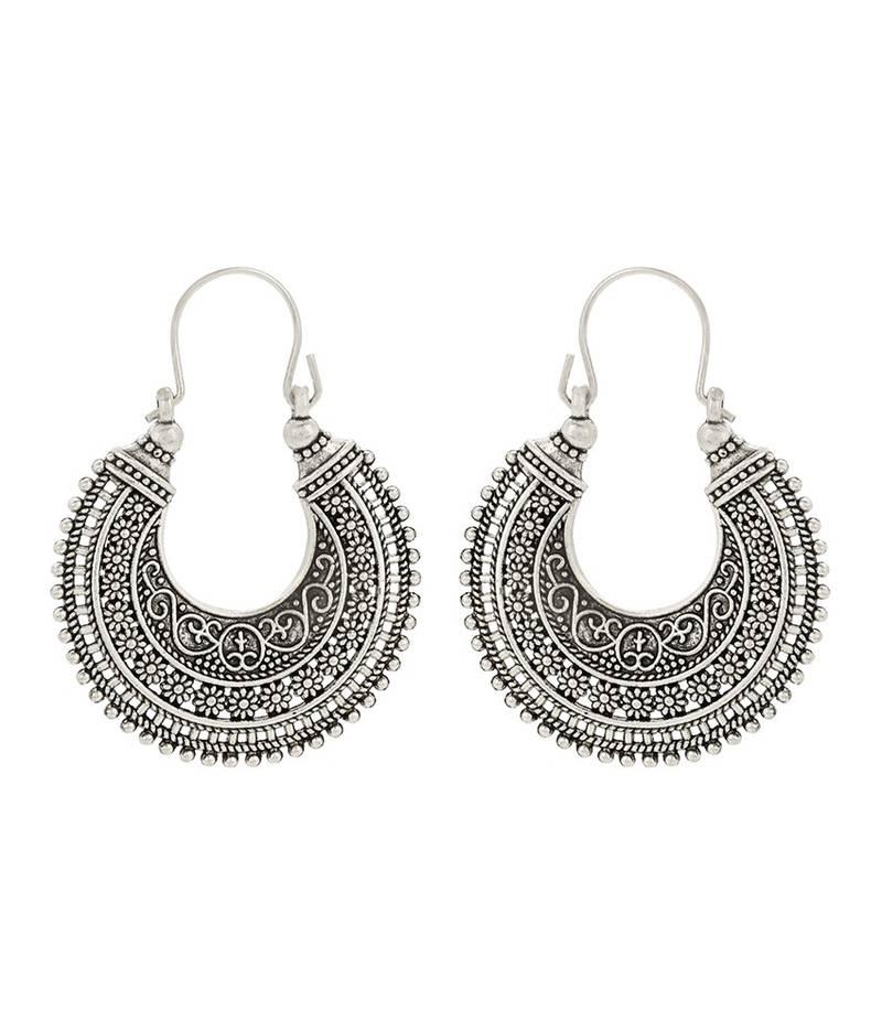 buy black metal antique hoop earrings